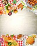Еда кухни пикника бара искусства предпосылки Стоковое Фото