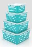 Еда кладет хранение в коробку Стоковое фото RF