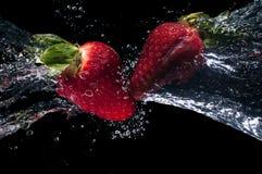 Еда клубник творческая изысканная Стоковые Фото
