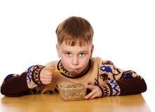 еда мальчика Стоковое Фото