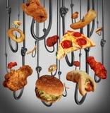 Еда наркомании иллюстрация штока