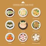 Еда на китайский Новый Год бесплатная иллюстрация