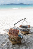 Еда на пляже Стоковое Фото