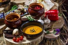 Еда на таблице Стоковая Фотография RF