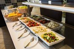 Еда на шведском столе Стоковая Фотография