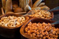 еда обрамляет смешанную nuts серию Стоковое Фото