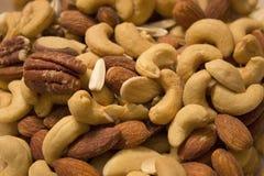 еда обрамляет смешанную nuts серию Стоковое фото RF