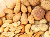 еда обрамляет смешанную nuts серию Стоковая Фотография RF