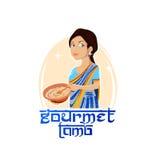 Еда логотипа традиционная индийская Стоковое Фото