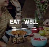 Еда очень вкусная ест хорошую концепцию обедающего ресторана Стоковое фото RF