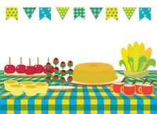Еда пиршества в июне бесплатная иллюстрация