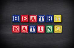 еда принципиальной схемы здоровая Стоковое Изображение