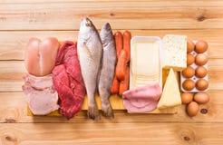 Еда, протеины Стоковые Изображения