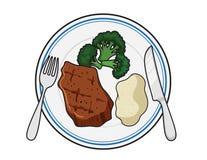 Еда плиты обедающего Стоковое фото RF