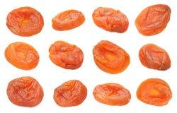 Еда плодоовощ высушенного абрикоса установленная сладостная Стоковое Изображение RF