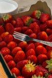Еда - плодоовощ - свежие клубники Стоковые Изображения