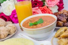 Еда Рамазана с соком Стоковое Фото