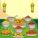 Еда Рамазана Iftar иллюстрация штока