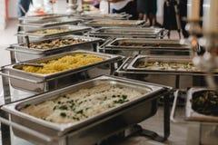 Еда ресторанного обслуживании для wedding Стоковая Фотография