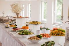 Еда ресторанного обслуживании для wedding Стоковая Фотография RF