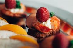 Еда ресторанного обслуживании Стоковое Фото