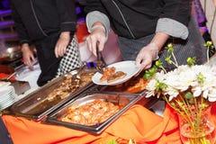 Еда ресторанного обслуживании Стоковое Изображение RF