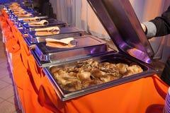Еда ресторанного обслуживании Стоковое Изображение