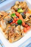 Еда ресторанного обслуживании Стоковое фото RF