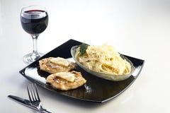 Еда, ресторан, поставляя еду Стоковое Фото