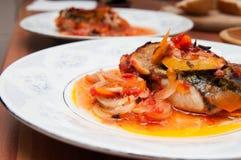 Еда рыб стоковые фото