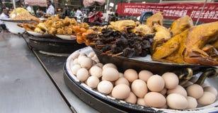 Еда рынка, Кашгар, Китай Стоковое Изображение