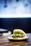 Еда сандвича закуски традиционного китайския pao плюшки живота свинины Стоковые Фото