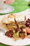 Еда сандвича madame croque Стоковая Фотография RF