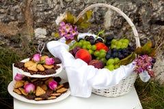 Еда свадьбы Стоковые Изображения