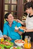 Еда сервировки Стоковые Изображения RF
