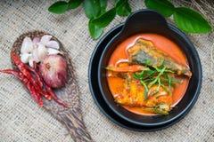 Еда скумбрии Chuchi тайская Стоковое Фото