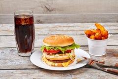 Еда столового прибора и фаст-фуда Стоковое Изображение