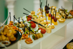 Еда таблицы шведского стола Стоковое Изображение RF
