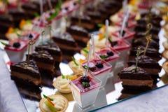 Еда таблицы шведского стола Стоковая Фотография