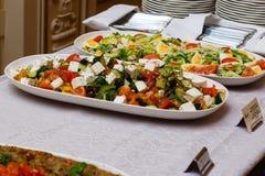 Еда таблицы шведского стола Стоковая Фотография RF