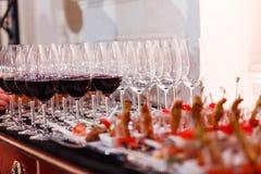 Еда таблицы шведского стола Стоковое Изображение