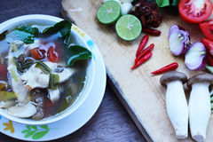 Еда Таиланда супа рыб Стоковая Фотография