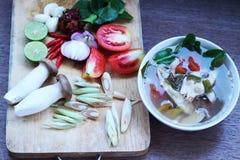 Еда Таиланда супа рыб Стоковое Фото