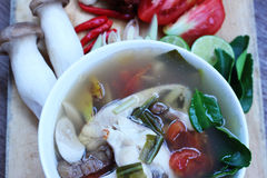 Еда Таиланда супа рыб Стоковое фото RF