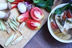 Еда Таиланда супа рыб Стоковые Фотографии RF