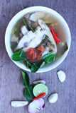 Еда Таиланда супа рыб Стоковые Фото