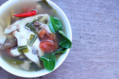 Еда Таиланда супа рыб Стоковое Изображение RF