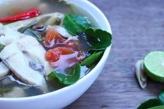 Еда Таиланда супа рыб Стоковые Изображения