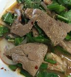 Еда Таиланда, сладостного пряного салата печени свинины Стоковое Изображение