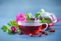 еда темы чая здоровой иллюстрации вальм розовой Стоковое фото RF